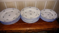Herendi antik tányérsor 1880 körül, 18 db