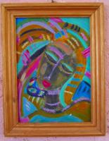 Absztrakt lány portré