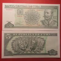 Kuba 5 pesos 2012 UNC