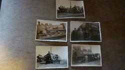 Régi mozdonyos fényképek