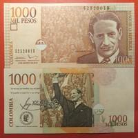 Kolumbia 1000 pesos 2016 UNC polimer