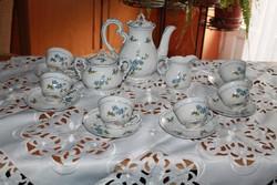 RITKA! Zsolnay kék barackvirágos kávéskészlet