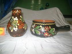 Kerámia váza és tál