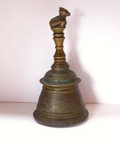 Antik indiai bronz templomi kézi harang, ~1880