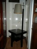 Különleges eredeti antik Art Deco állítható magasságú állólámpa - asztalkával kombinálva kb.1930