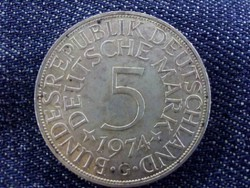 NSZK ezüst 5 Márka 1974 G/id 4684/