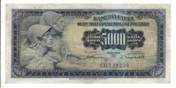 5000 dinár 1955 Jugoszlávia Ritka! 2.