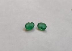 2 db smaragd, egymáshoz illő pár ékszer készítéshez 1#