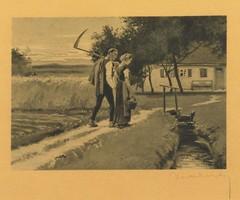 Német festő 1930 körül : Hazatérés