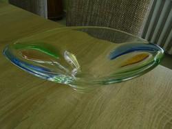 Különleges Bohemia üveg kínáló/asztalközép