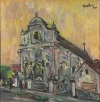 Walter Friedrich jelzéssel : Templom előtt 1985