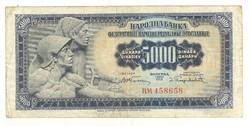 5000 dinár 1955 Jugoszlávia Ritka! 1.