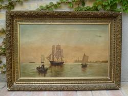Biedermeier festmény az 1800-as évekből....Hajós