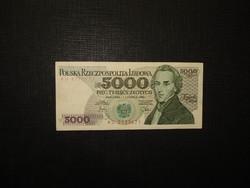 Lengyelország 5000 zlotych 1982 Extraszép!