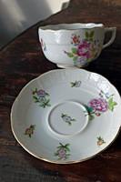 Antik Herendi rózsás teás csésze, hozzá való aljjal.1 db.