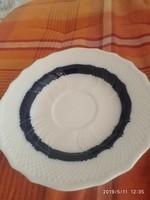 Hollóházi kék csíkos tányér 15 cm