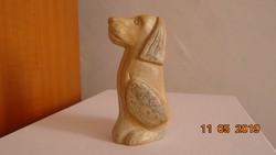 Márvány kutya figura