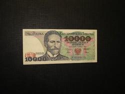 Lengyelország 10000 zloty 1987 Extraszép!