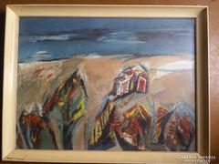 Végh András, olaj festmény,
