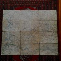 Térkép két háború közötti időszakból