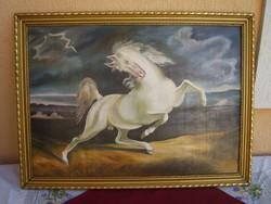 Villámlástól megriadt ló   Eugene  Delacroix után