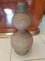 Régi nagyméretű dupla gömbös szódásüveg