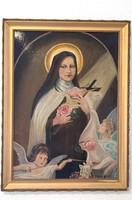 Szent Terézt ábrázoló olajfestmény
