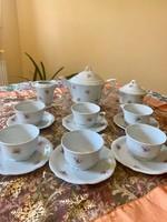 Antik Zsolnay 6 személyes manófüles teás készlet az 1930 -as évekből