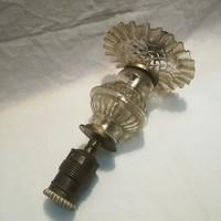 Antik fodros üveg lámpa gyönyörűség