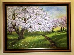 Kortárs festmény: V.Juhász Edit: Tavasz (díjazott)