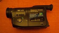 ÚJ állapotú, PANASONIC RX 50-es típusú felvevő kamera, összes tartozékával együtt.