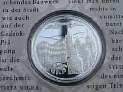 KK343 1996 Ezüst medál Németország szép városai TRIER .999 színezüst