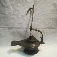 Antik bronz olajlámpa