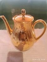 Régi szép  aranyozott teás kanna