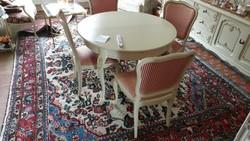 Warrings törtfehér étkezőasztal 4 székkel