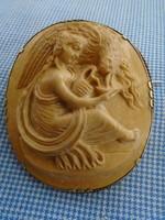 Antik porcelán CAMEA aranyozott kerettel VIKTORIÁNUS IDŐKBŐL 1
