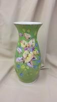 Virágdekoros zöld váza Schlegenmilch