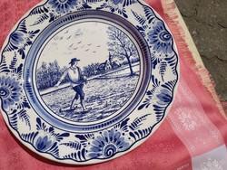 Holland ,kék- fehér tál, tányér