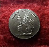 Gyönyörű ezüst koronázási zseton I. Ferenc budai megkoronázására. 1792 Prága.