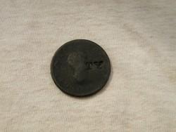 KK348 cc.1800 felülvert fél penny Anglia III. György