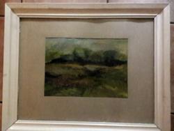 """Krivánik József """"Táj"""" c.eredeti képcsarnokos festménye"""