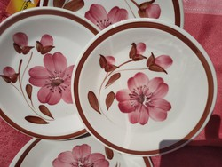 6 db. olasz kerámia sütis tányér