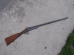 Duplacsövű muzeális lefocheaux, gyúpeckes vadászpuska