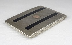 0W759 Régi jelzett ezüst cigaretta tárca dózni