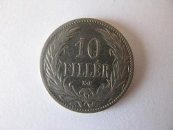 10 fillér 1895. Ferenc József
