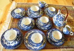 Tojáshéj porcelán készlet, cseresznye mintával, 27 darabos