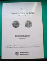 1. Numizmatikai Aukció - Pannonia Terra Numizmatikai Kft.- 1997 - árverési katalógus