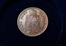 Verdefényes 5/10 krajcár 1882 KB. Gyűjteményes darab.
