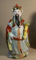 Kínai porcelán szerzetes 26 cm magas