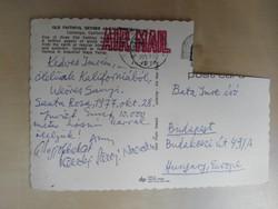 Weöres Sándor és Károlyi Amy által írt képeslap 1977-ből